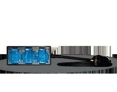Kopp Blue Electric tenue d/'apparat feuchtraum Protection Contact-Prise de courant