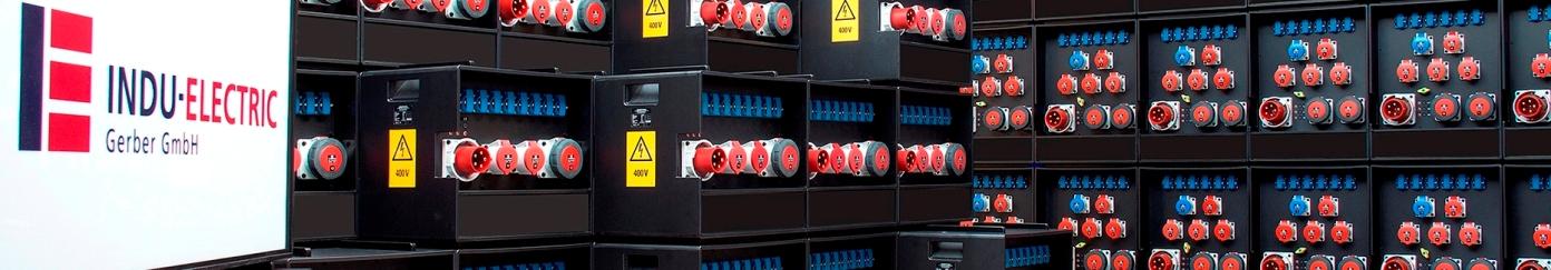Vous pouvez voir un mur de distributeurs de puissance INDU-ELECTRIC.
