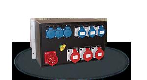 Hier sehen Sie ein Bild eines 19 Zoll Stromverteilers der Firma INDU-ELECTRIC