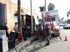 Stromverteiler von INDU-ELECTRIC bei einem Filmdreh in Californien, USA.
