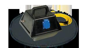 Hier sehen Sie ein Bild eines mobilen Transformators der Firma INDU-ELECTRIC