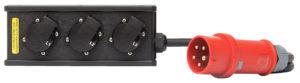 THERMOLENE® 16A 3-fach Schukoblock