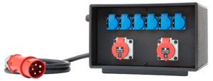 Sie sehen ein Bild von eine mobilen Stromverteiler der Firma INDU-ELECTRIC