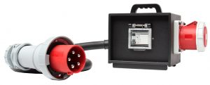 Sie sehen ein Bild von einem transportablen RCD der Firma INDU-ELECTRIC.