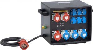 Sie sehen ein Bild von einem mobilen Stromverteiler der Firma INDU-ELECTRIC.