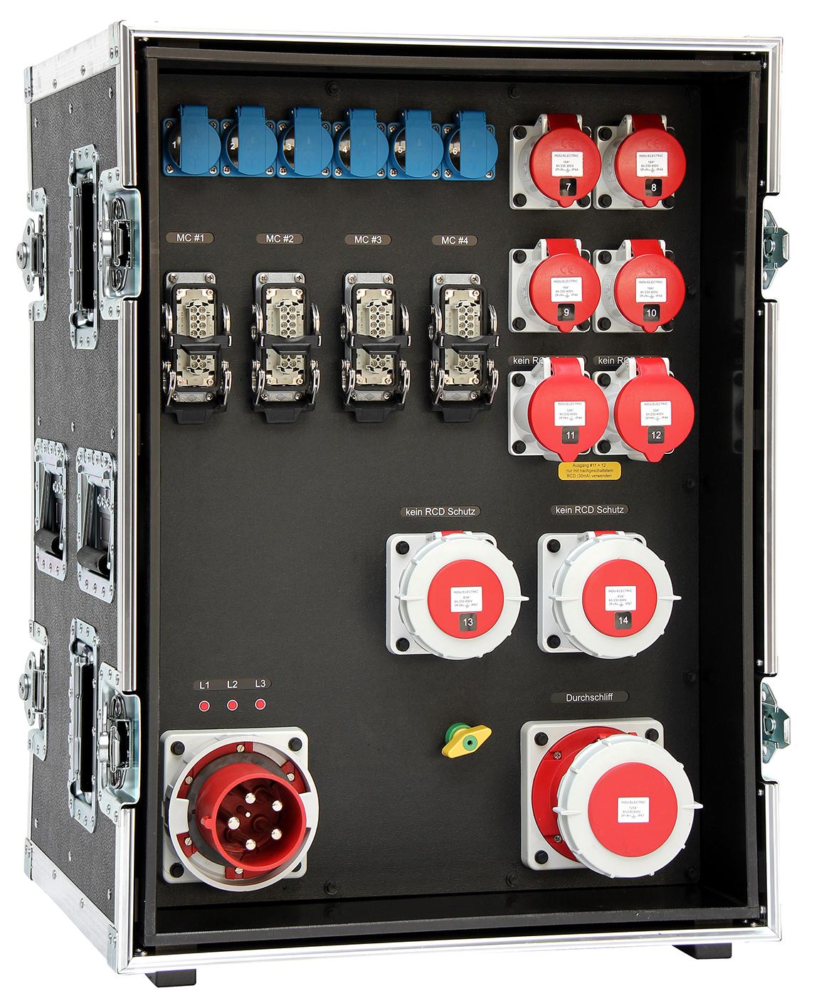 Hauptverteiler im Flightcase   INDU-ELECTRIC DE