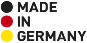 """Sie sehen das Logo """"Made in Germany"""""""
