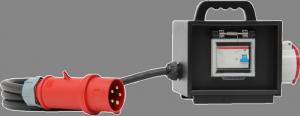 Sie sehen ein Bild von einem mobilen RCD der Firma INDU-ELECTRIC.