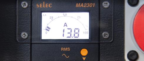INDU-ELECTRIC digitales 3-Phasen Amperemeter